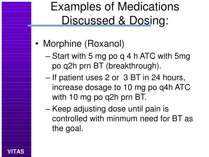 Examples of Medications Discussed & Dosing: