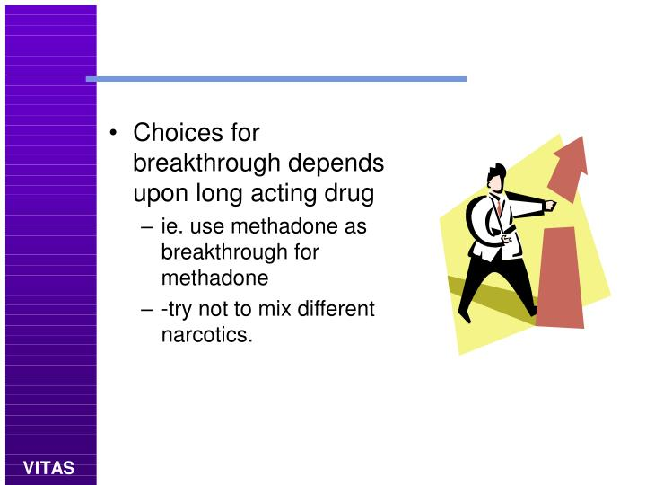Choices for breakthrough depends upon long acting drug