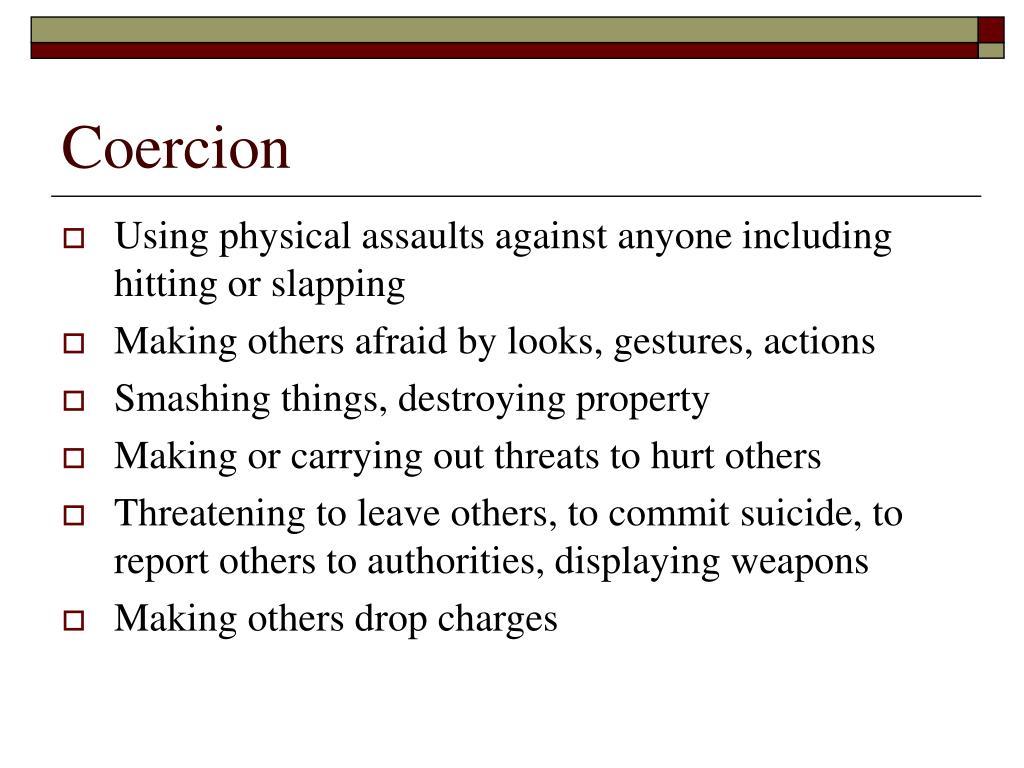 Coercion
