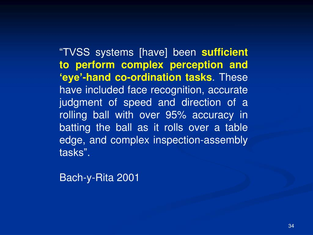 """TVSS systems [have] been"