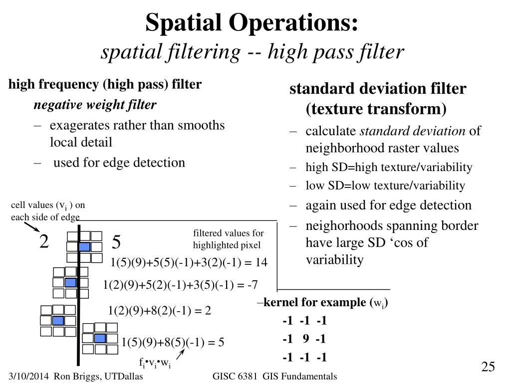 high frequency (high pass) filter
