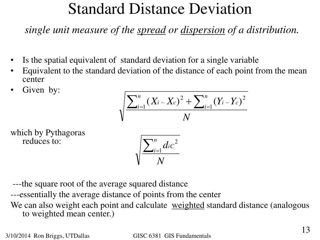 Standard Distance Deviation