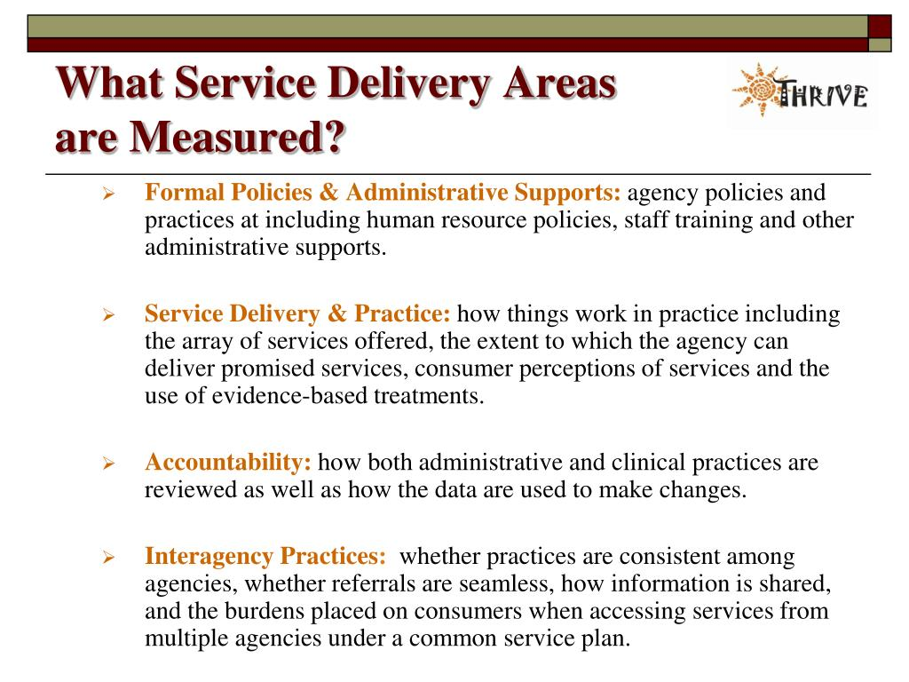 What Service Delivery Areas