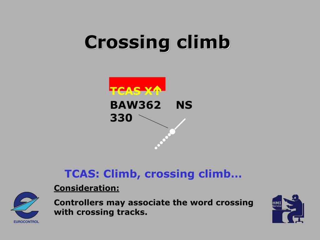 Crossing climb
