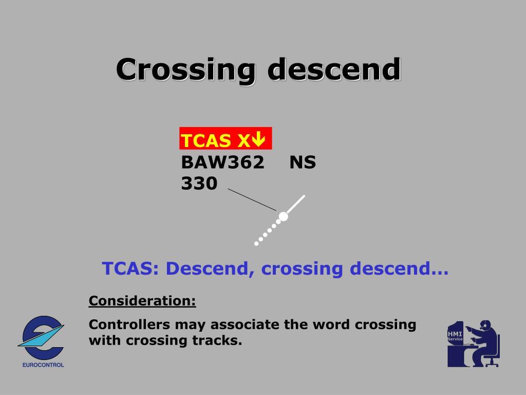 Crossing descend