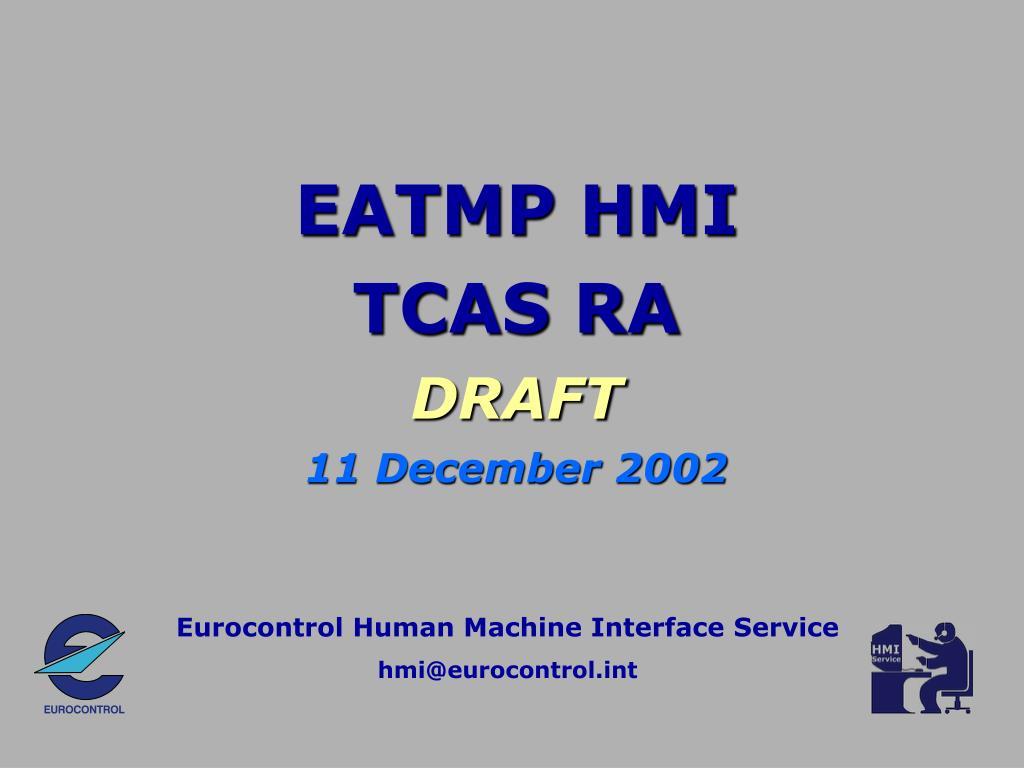 eatmp hmi tcas ra draft 11 december 2002