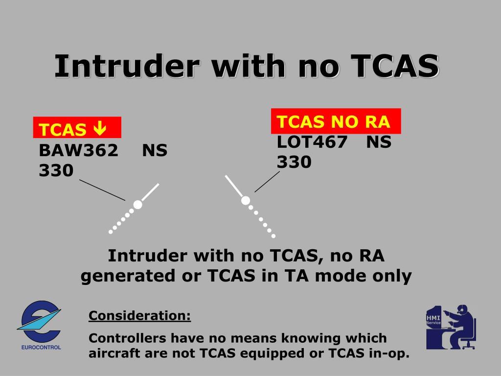 Intruder with no TCAS