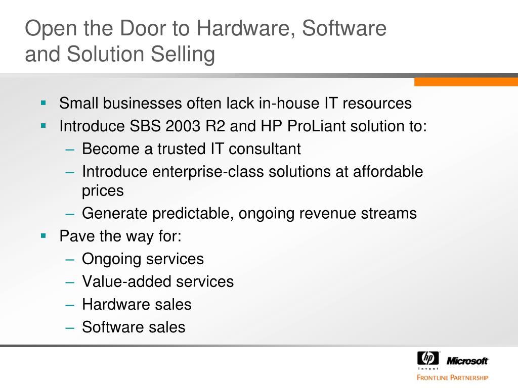 Open the Door to Hardware, Software