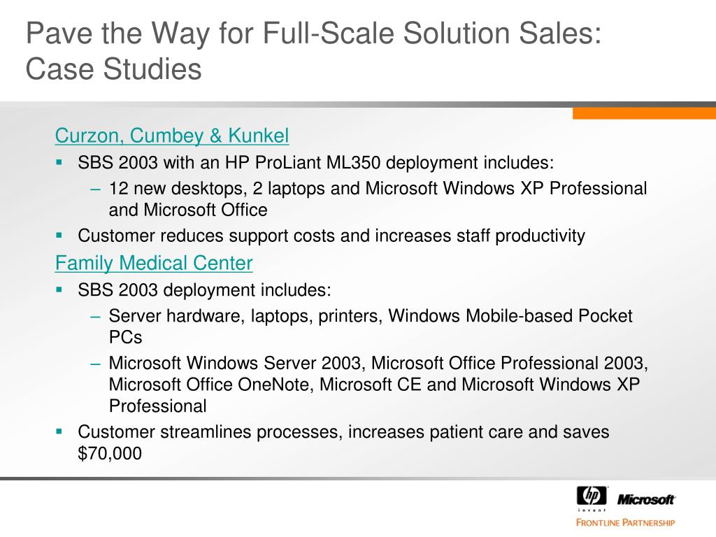Pave the Way for Full-Scale Solution Sales: