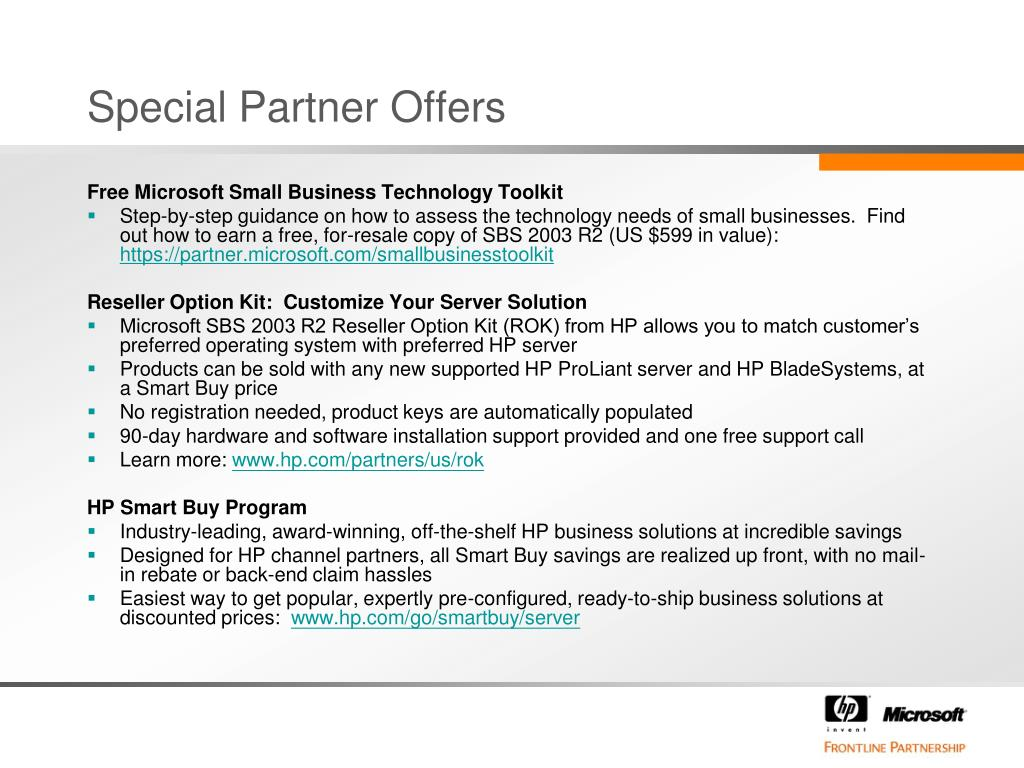 Special Partner Offers