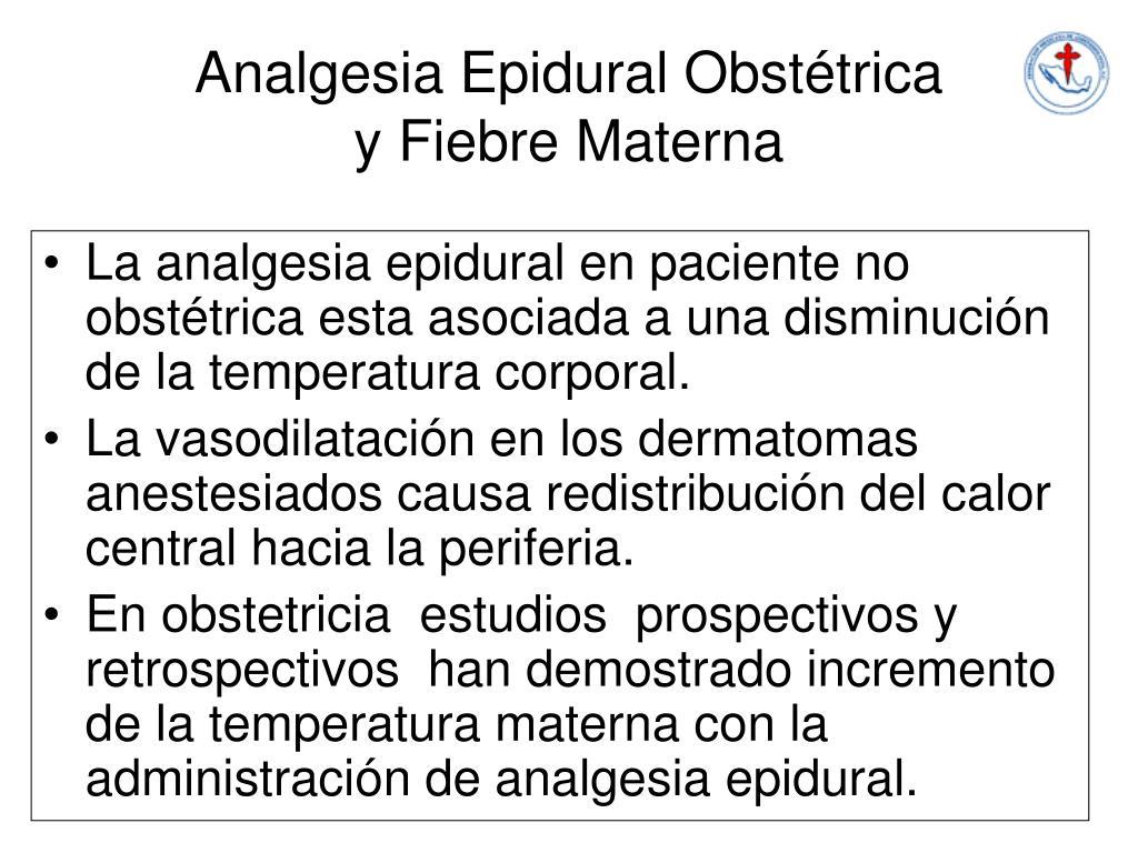 Analgesia Epidural Obstétrica