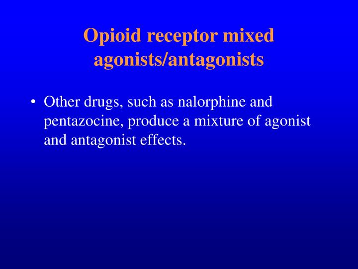 Opioid receptor mixed agonists/antagonists