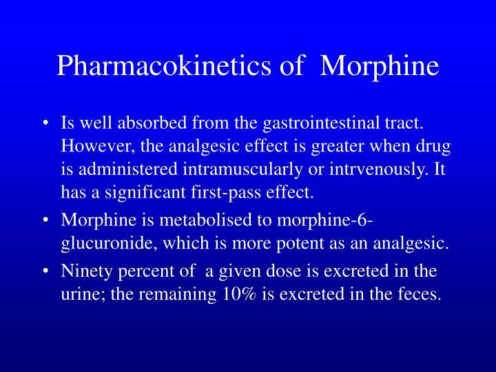 Pharmacokinetics of  Morphine