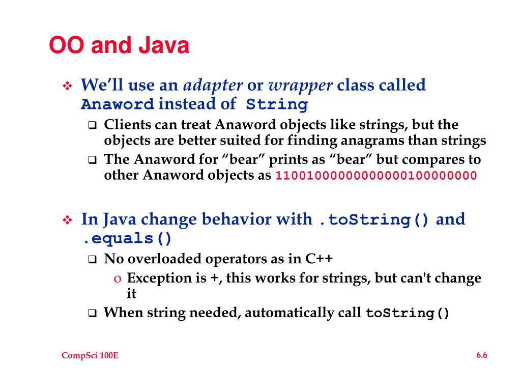 OO and Java