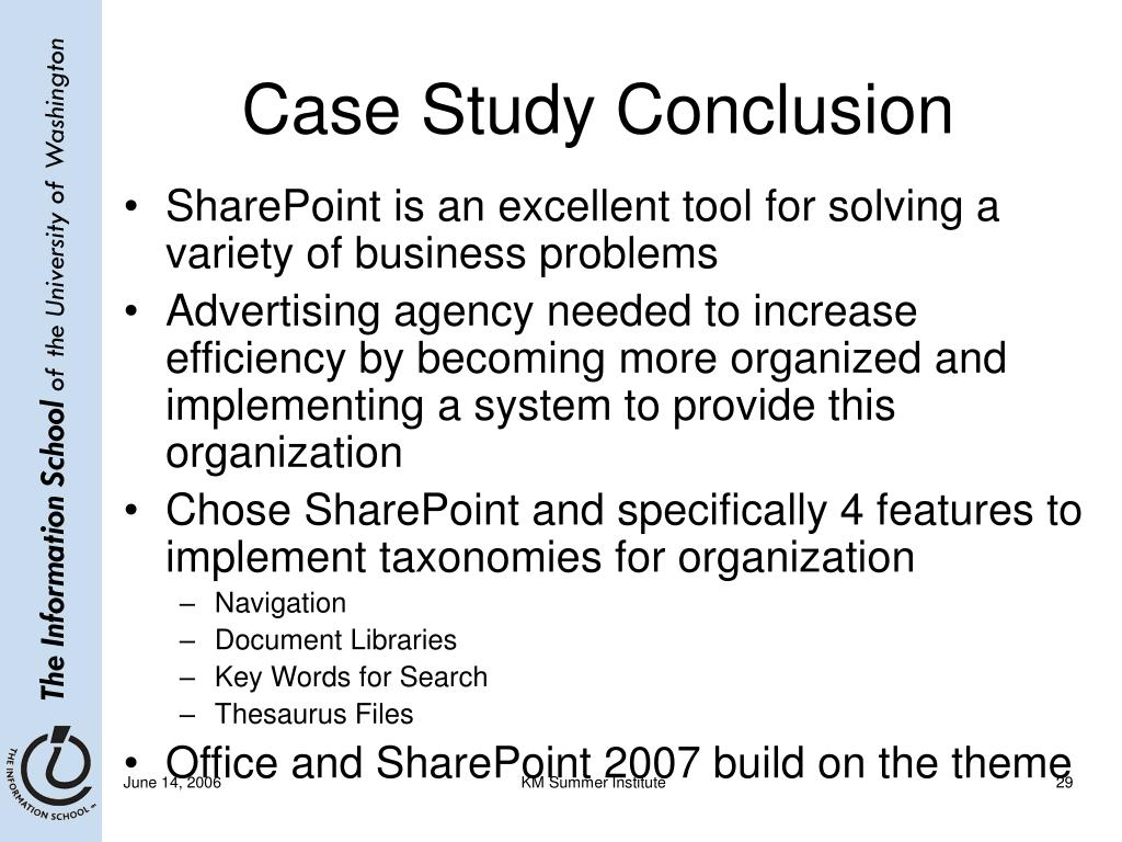Case Study Conclusion