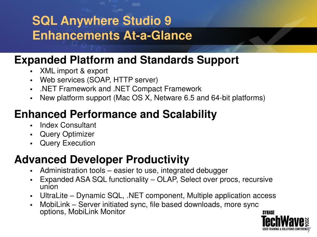 SQL Anywhere Studio 9