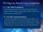 10 ways to boost your creativity15