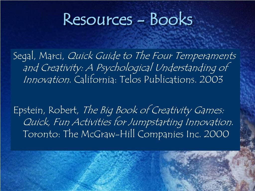 Resources - Books