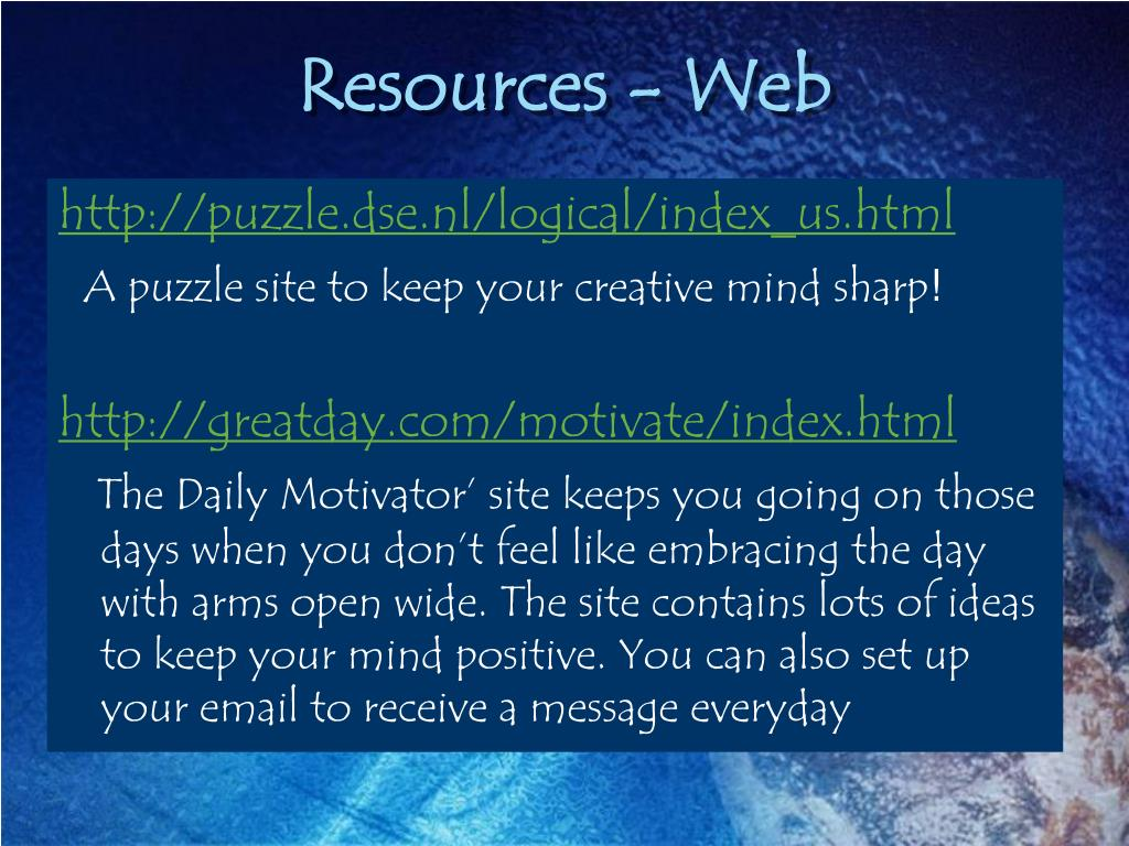 Resources - Web