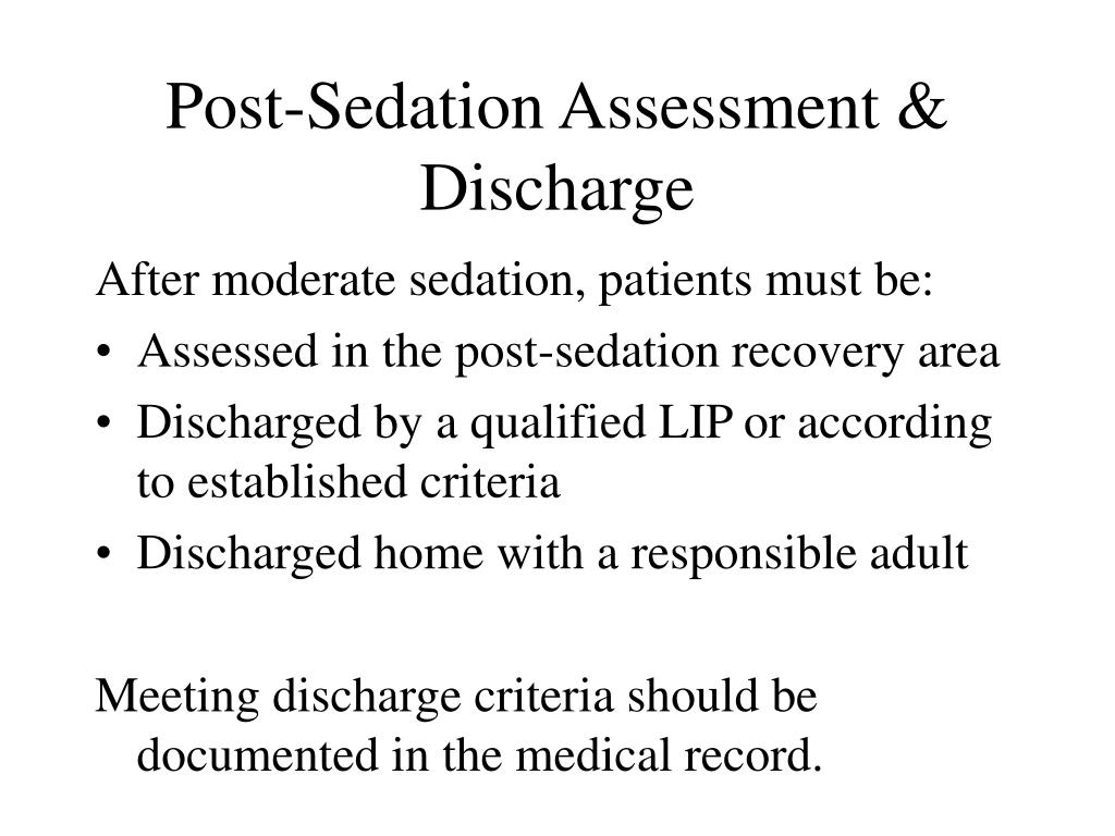 Post-Sedation Assessment & Discharge