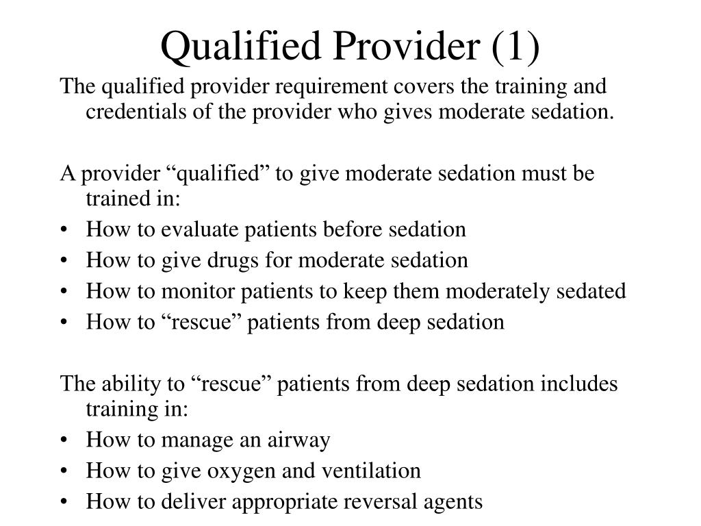Qualified Provider (1)