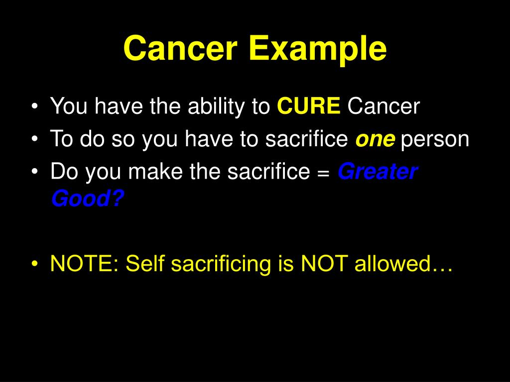 Cancer Example