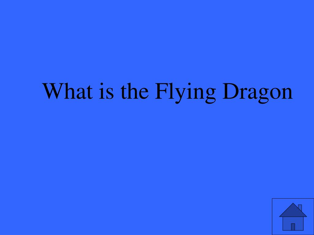 What is the Flying Dragon