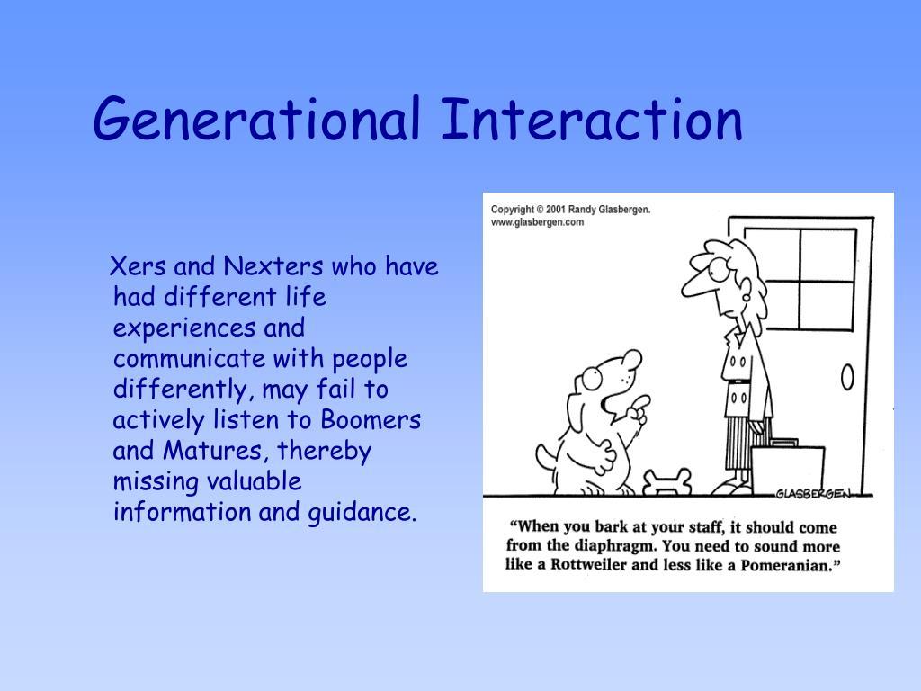 Generational Interaction