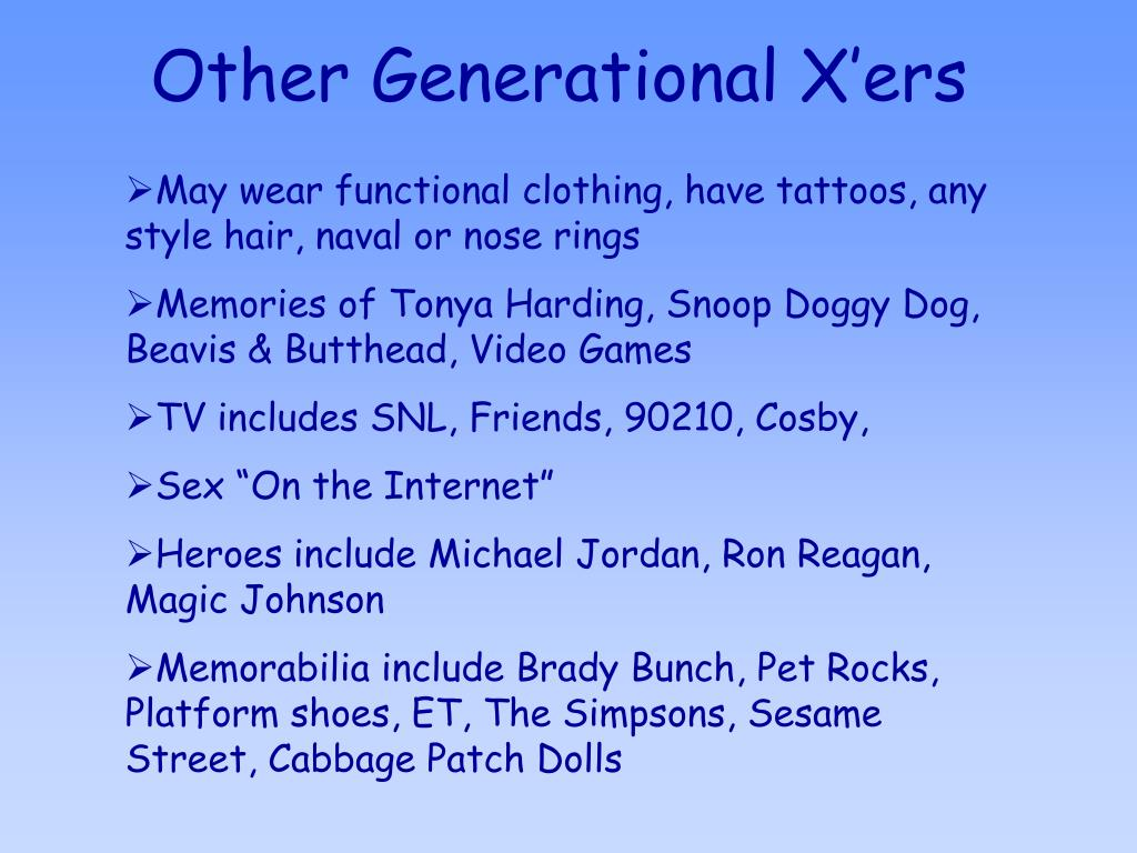 Other Generational X'ers