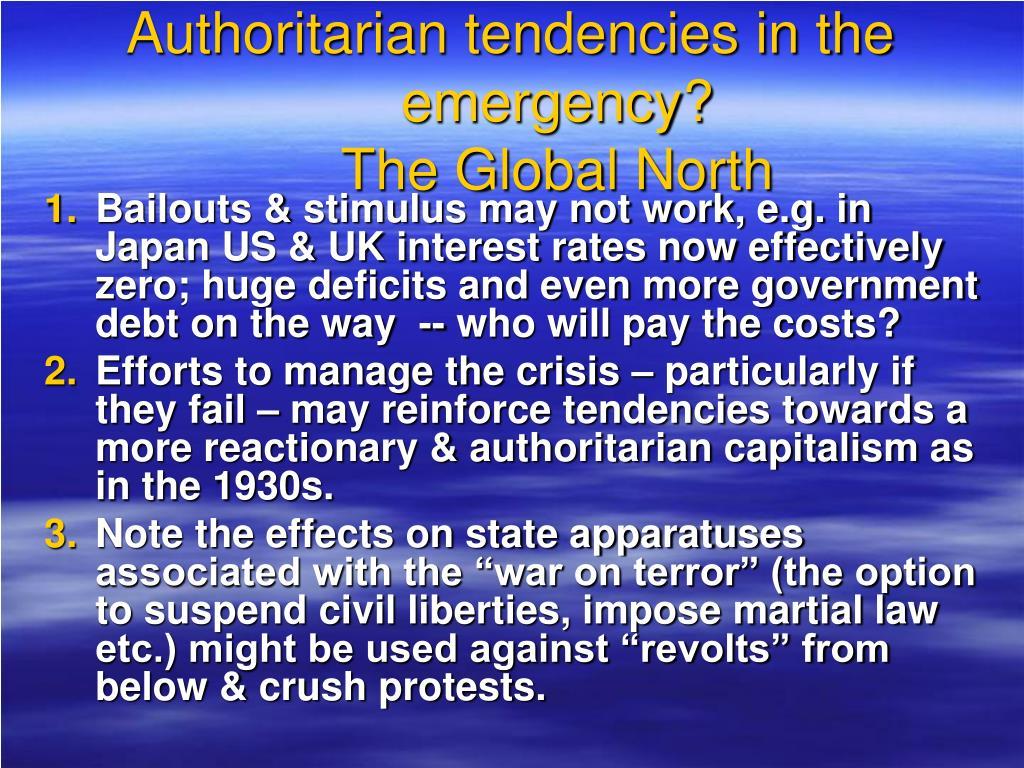 Authoritarian tendencies in the emergency?
