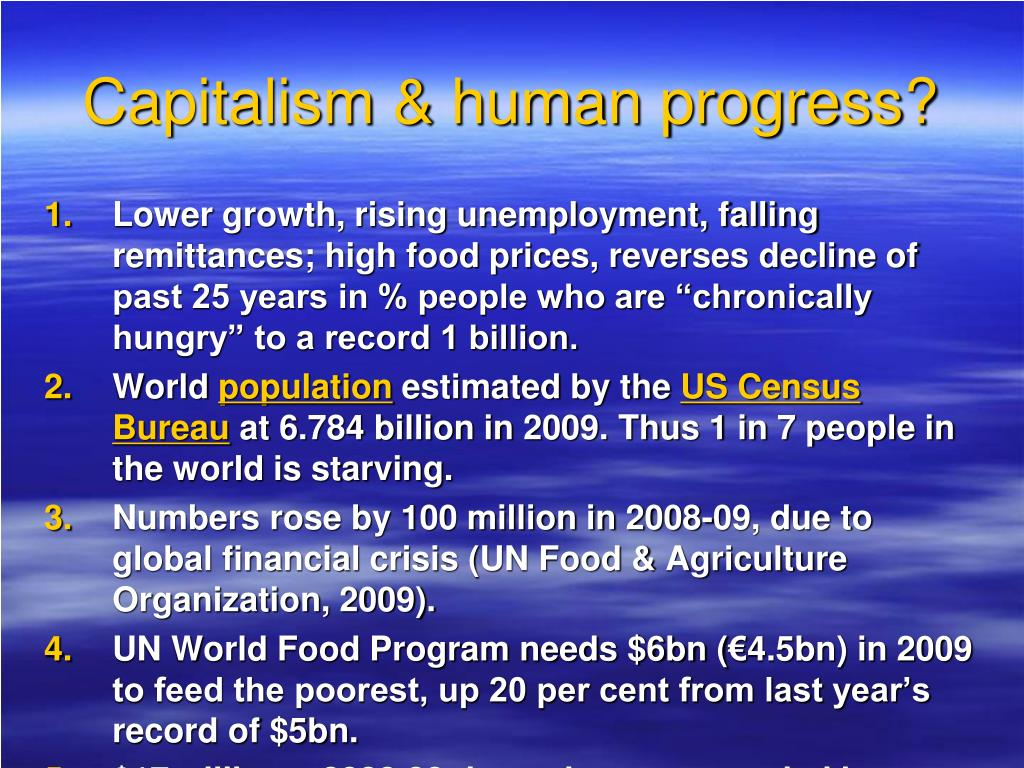 Capitalism & human progress?