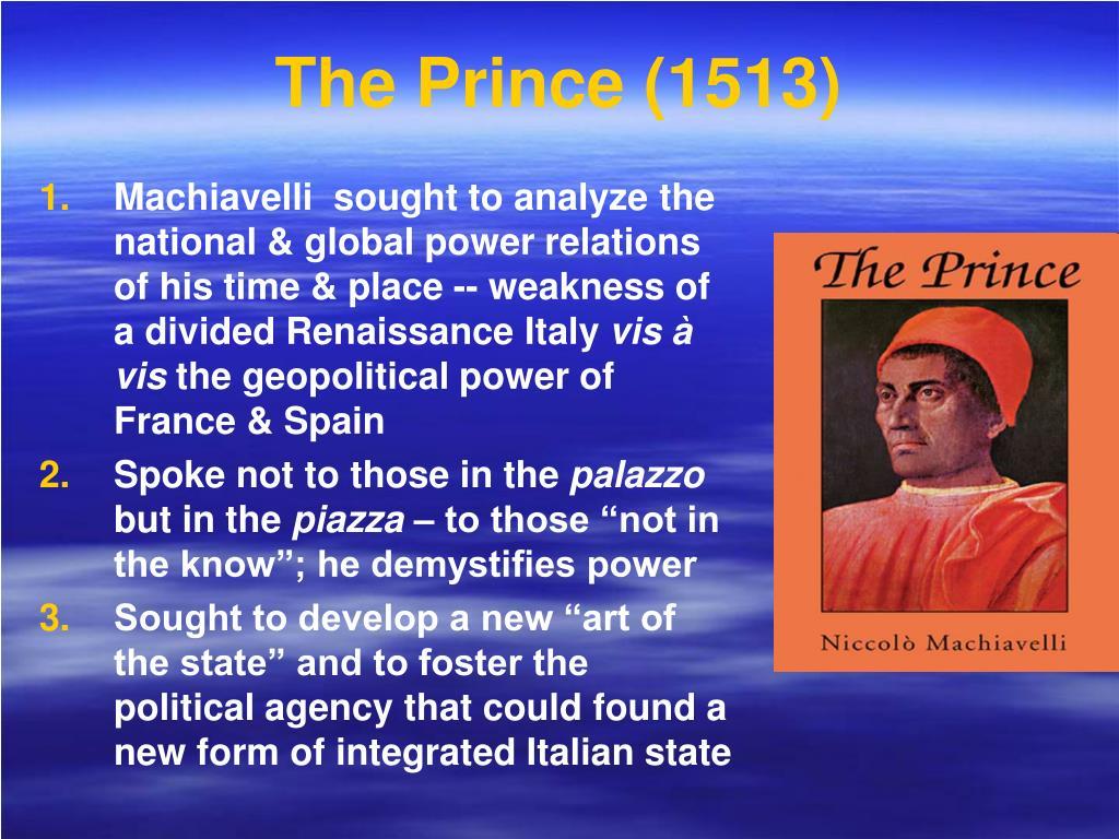 The Prince (1513)