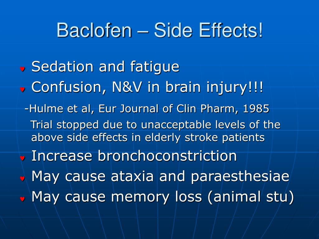 PPT  Botulinum Toxin in PostStroke Spasticity PowerPoint  ~ Baclofen Dosage