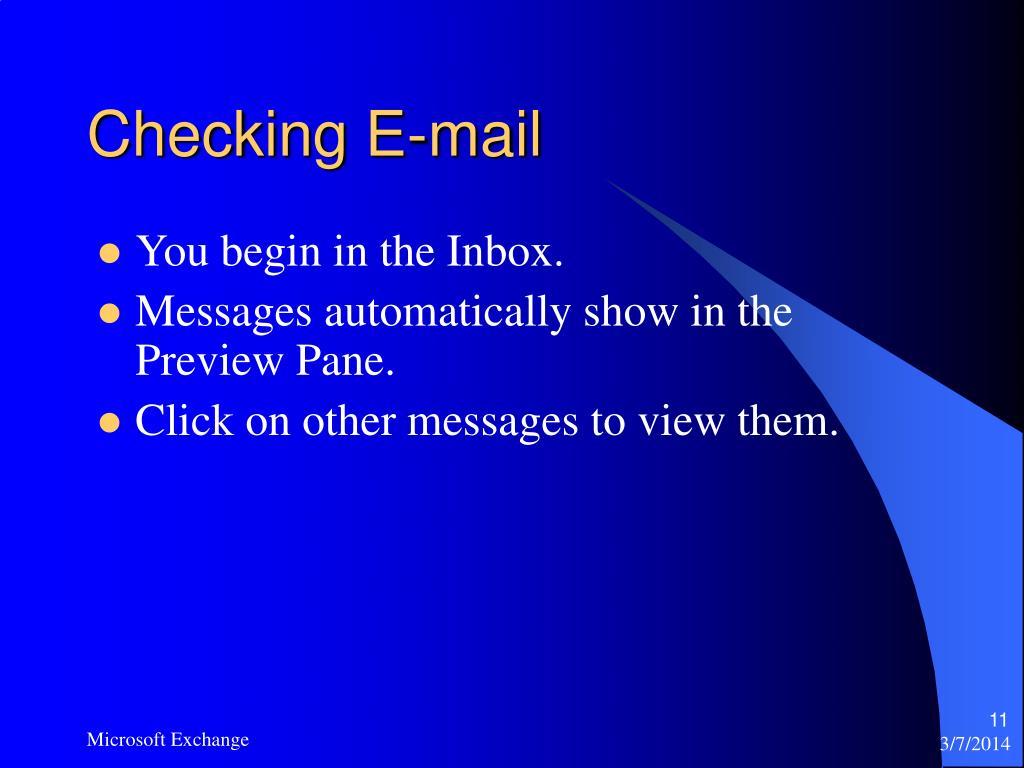 Checking E-mail