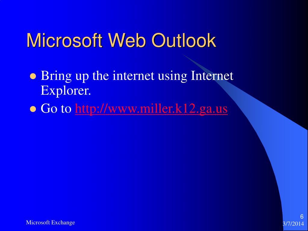 Microsoft Web Outlook