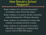 how should a school respond41