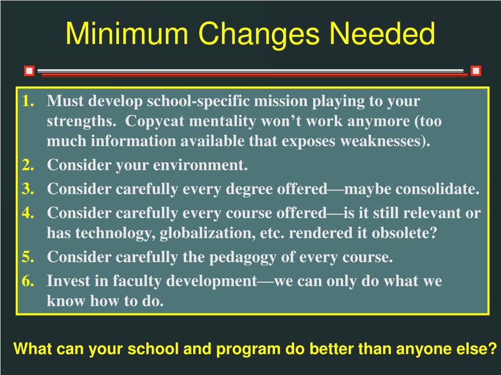Minimum Changes Needed