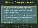 minimum changes needed34