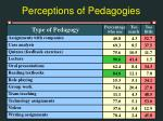 perceptions of pedagogies