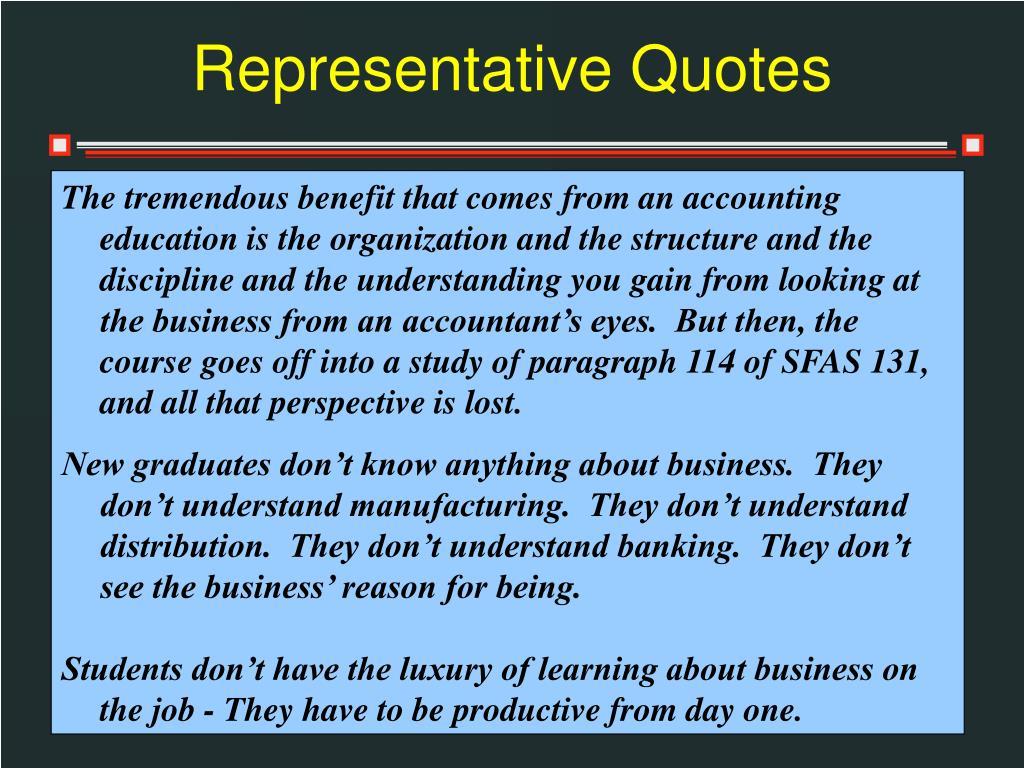 Representative Quotes