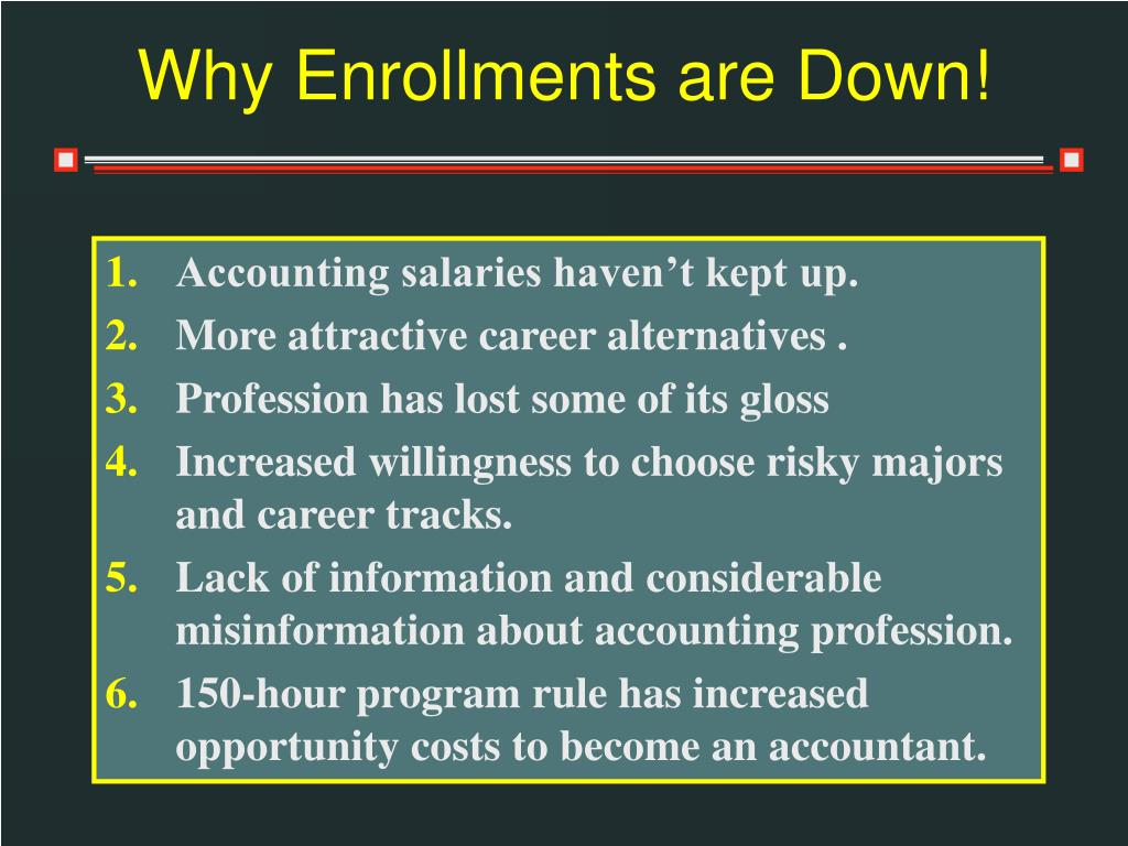 Why Enrollments are Down!