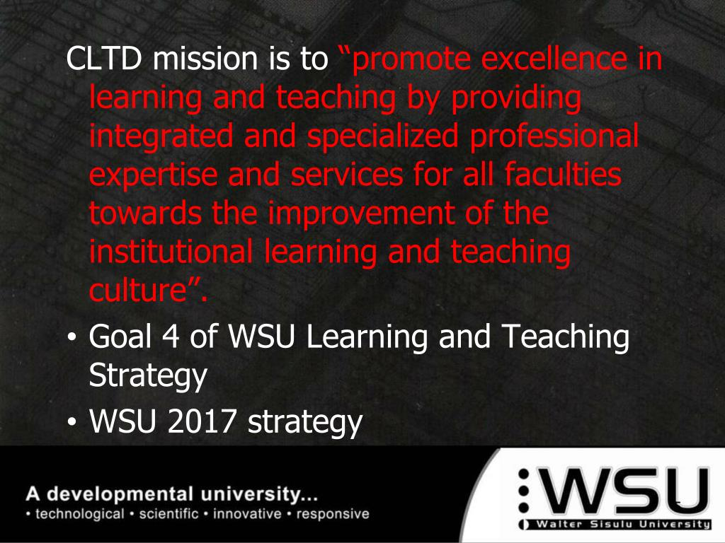 CLTD mission is to