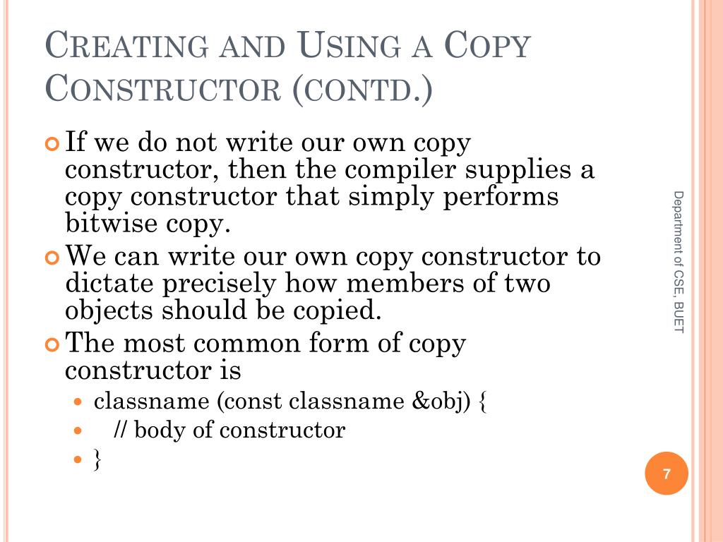 Creating and Using a Copy Constructor (contd.)