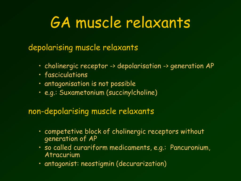 GA muscle relaxants