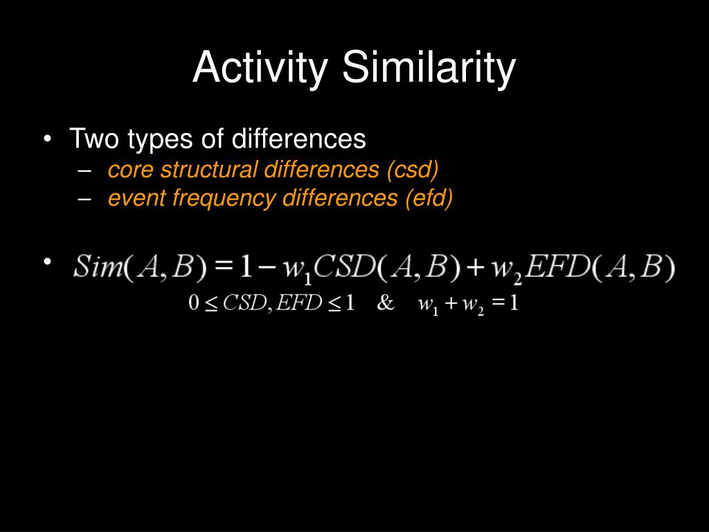 Activity Similarity