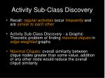 activity sub class discovery23