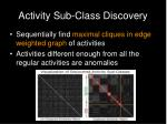 activity sub class discovery26