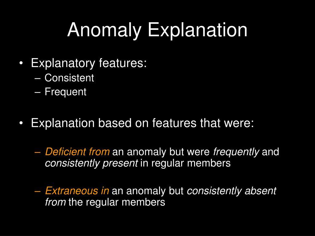Anomaly Explanation