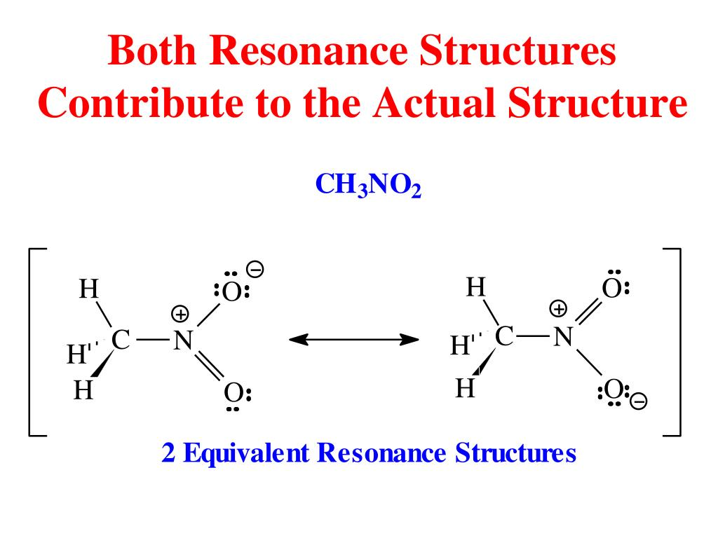 Both Resonance Structures Contribute to the Actual Structure