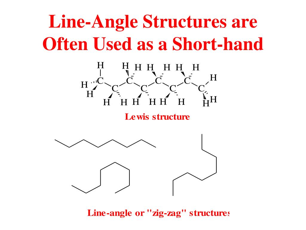 Line-Angle Structures are Often Used as a Short-hand